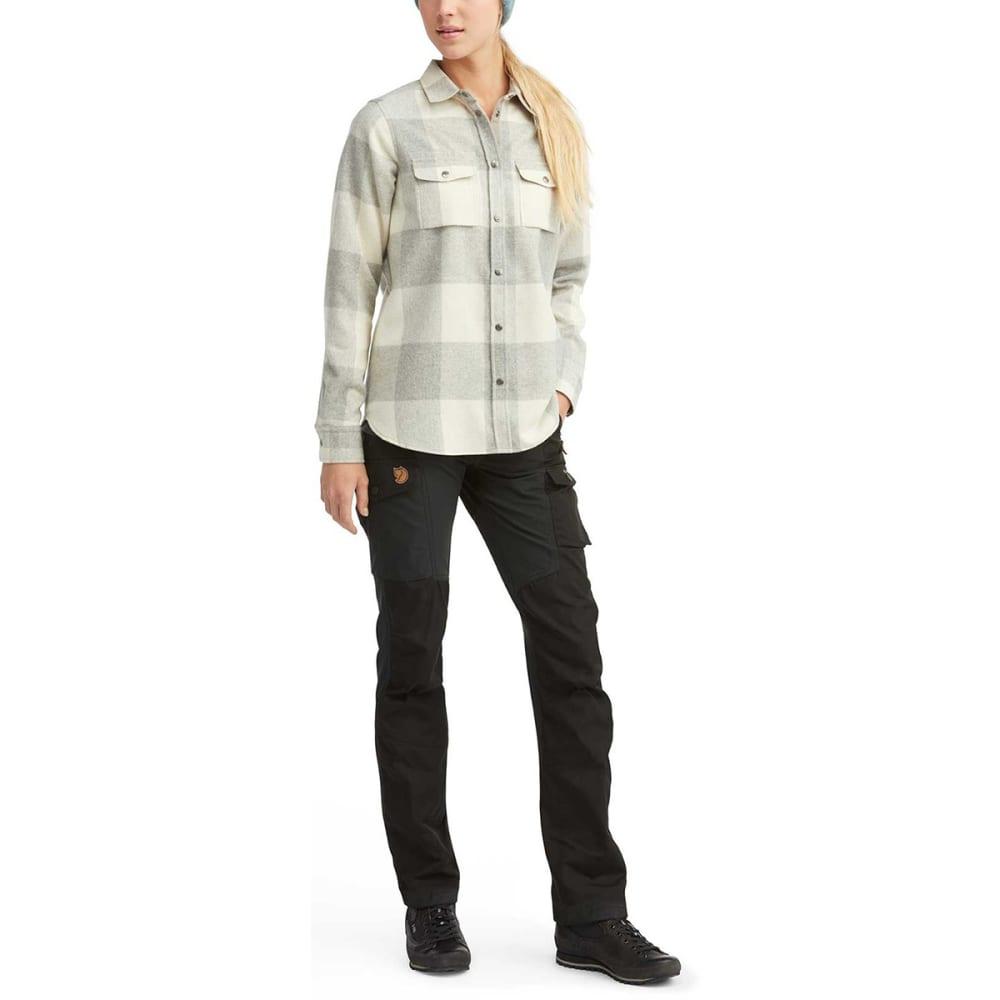 FJALLRAVEN Women's Canada Long-Sleeve Shirt - FOG-CHALK WHITE