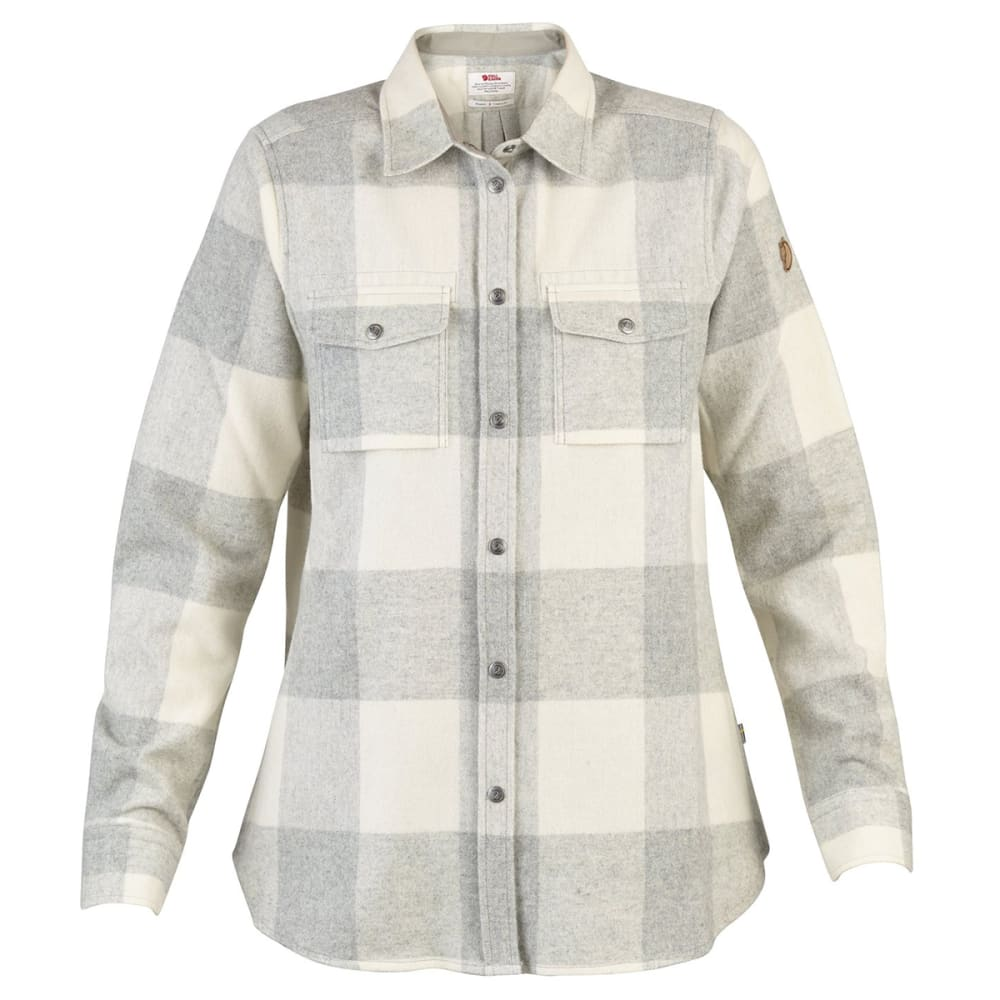 FJALLRAVEN Women's Canada Long-Sleeve Shirt - FOG-CHALK WHITE