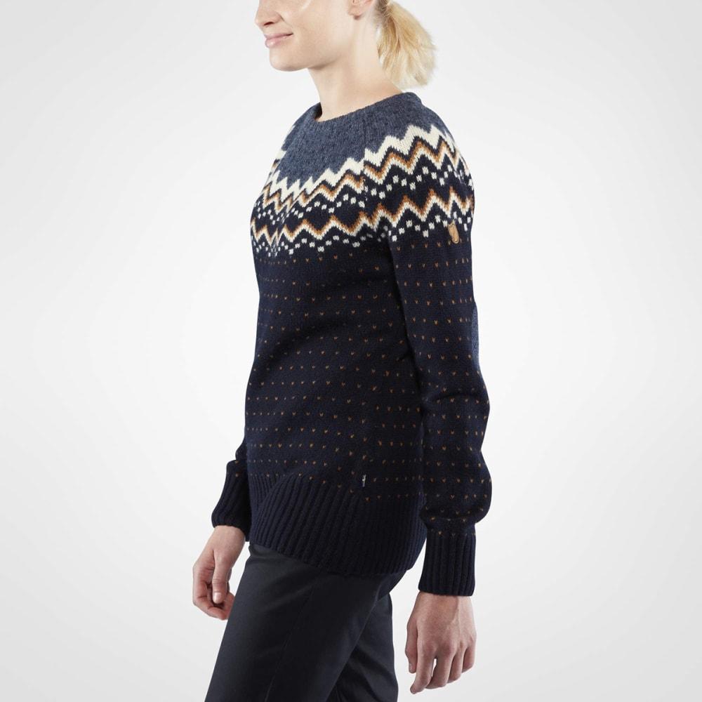 FJALLRAVEN Women's Ovik Knit Long-Sleeve Sweater - DARK NAVY