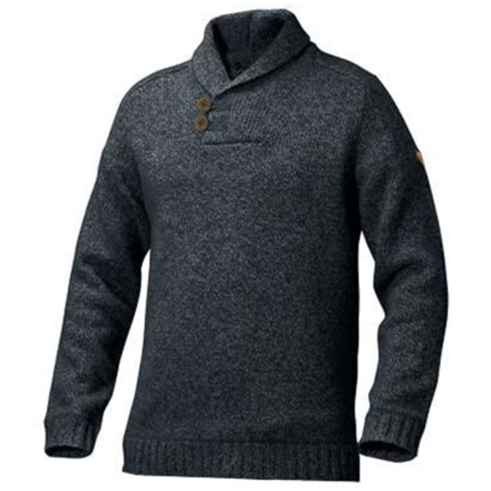 FJALLRAVEN Men's Lada Long-Sleeve Sweater - DARK NAVY