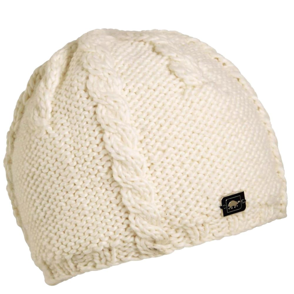 TURTLE FUR Women's Cabler Hand Knit Beanie - WHITE