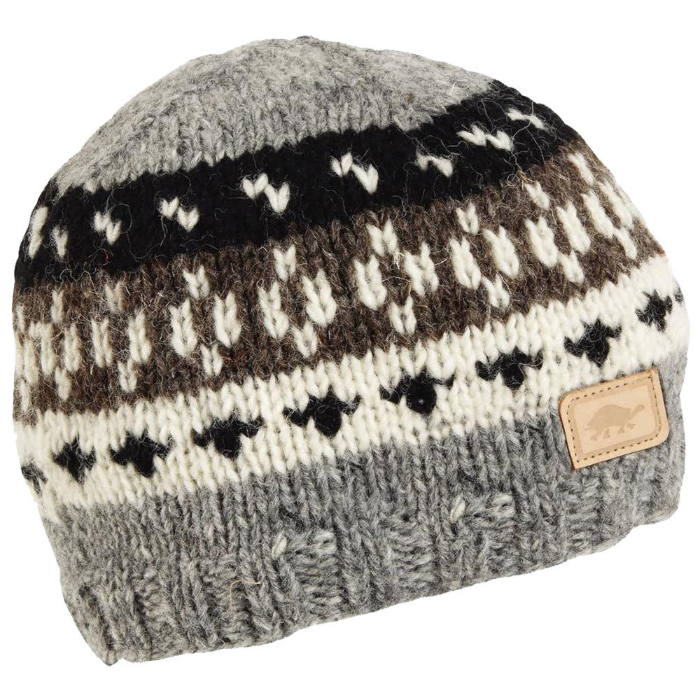 TURTLE FUR Women's Kanan Hand Knit Beanie - CHARCOAL - 429