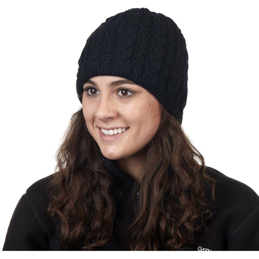 TURTLE FUR Women's Zelda Cable Knit Beanie - 101 BLACK
