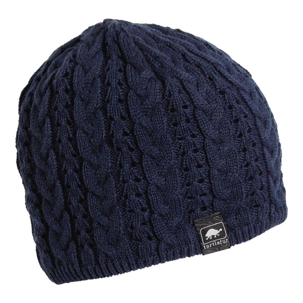 TURTLE FUR Women's Zelda Cable Knit Beanie - NAVY