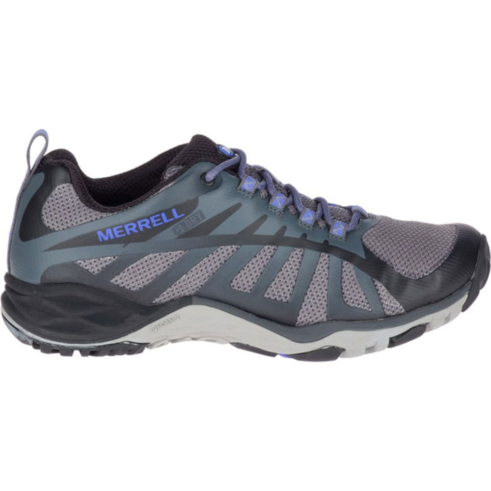 MERRELL Women's Siren Edge Q2 Waterproof Low Hiking Shoes - BLACK