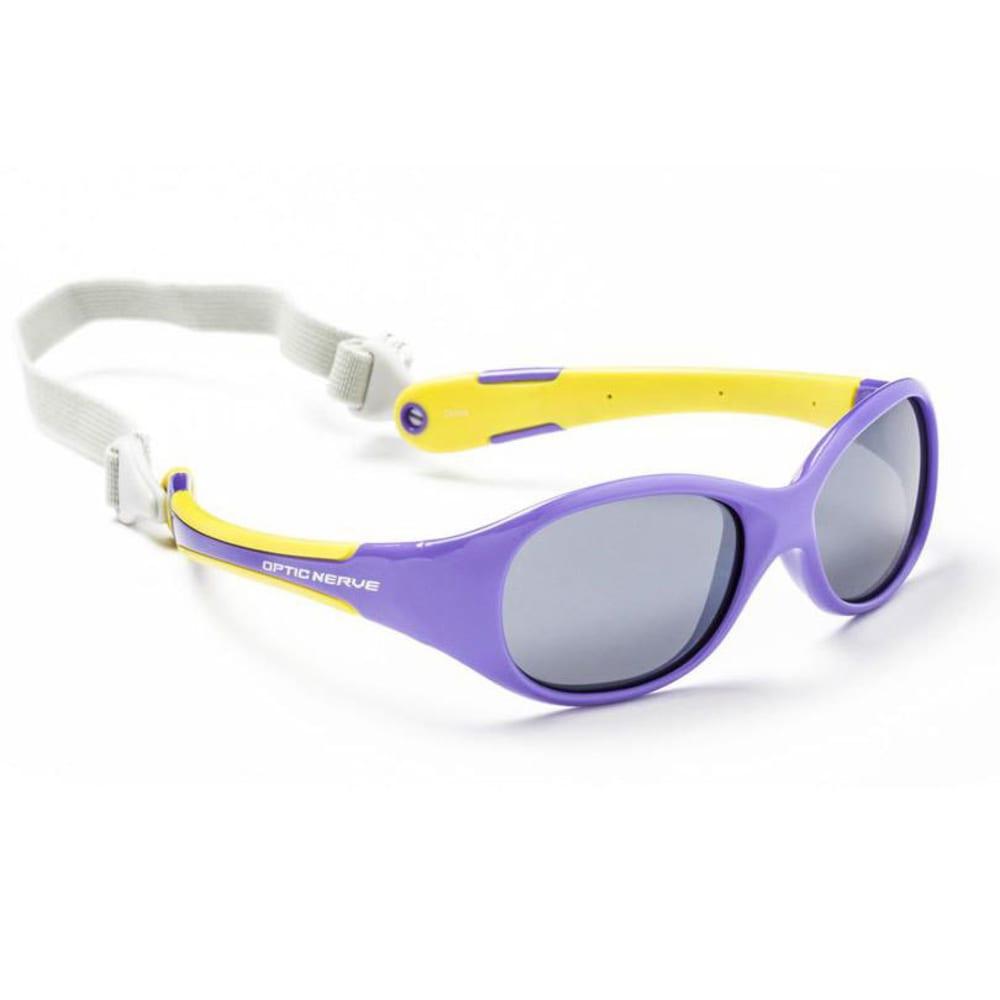 OPTIC NERVE Kids' Lil' Pro Sunglasses - PURPLE WITH YELLOW