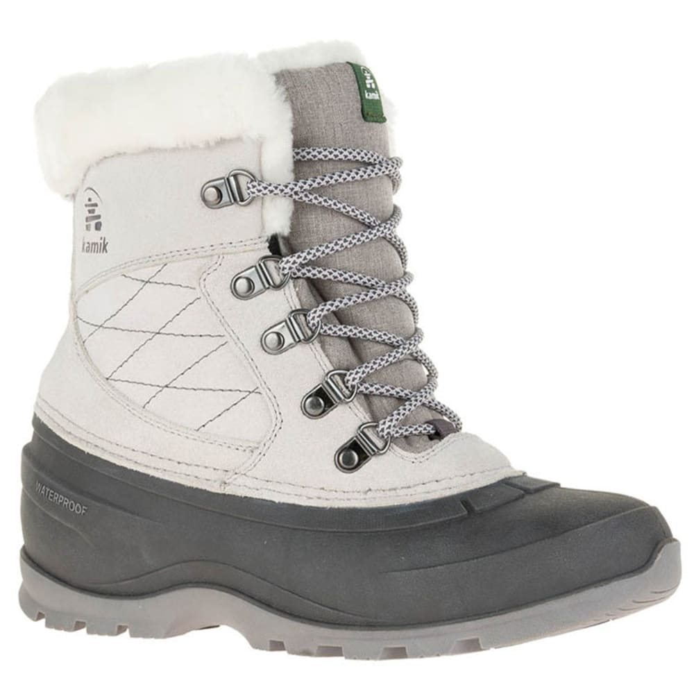 KAMIK Women's SnovalleyL Waterproof Insulated Storm Boots - LIGHT GREY