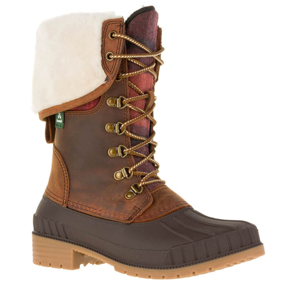KAMIK Women's SiennaF2 Waterproof Insulated Storm Boots - DARK BROWN