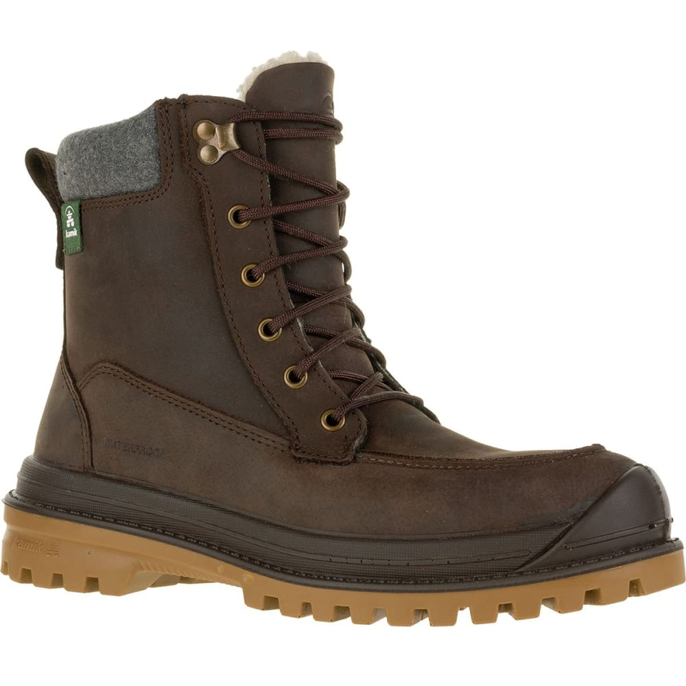 KAMIK Men's Griffon2 Waterproof Insulated Storm Boots - DARK BROWN