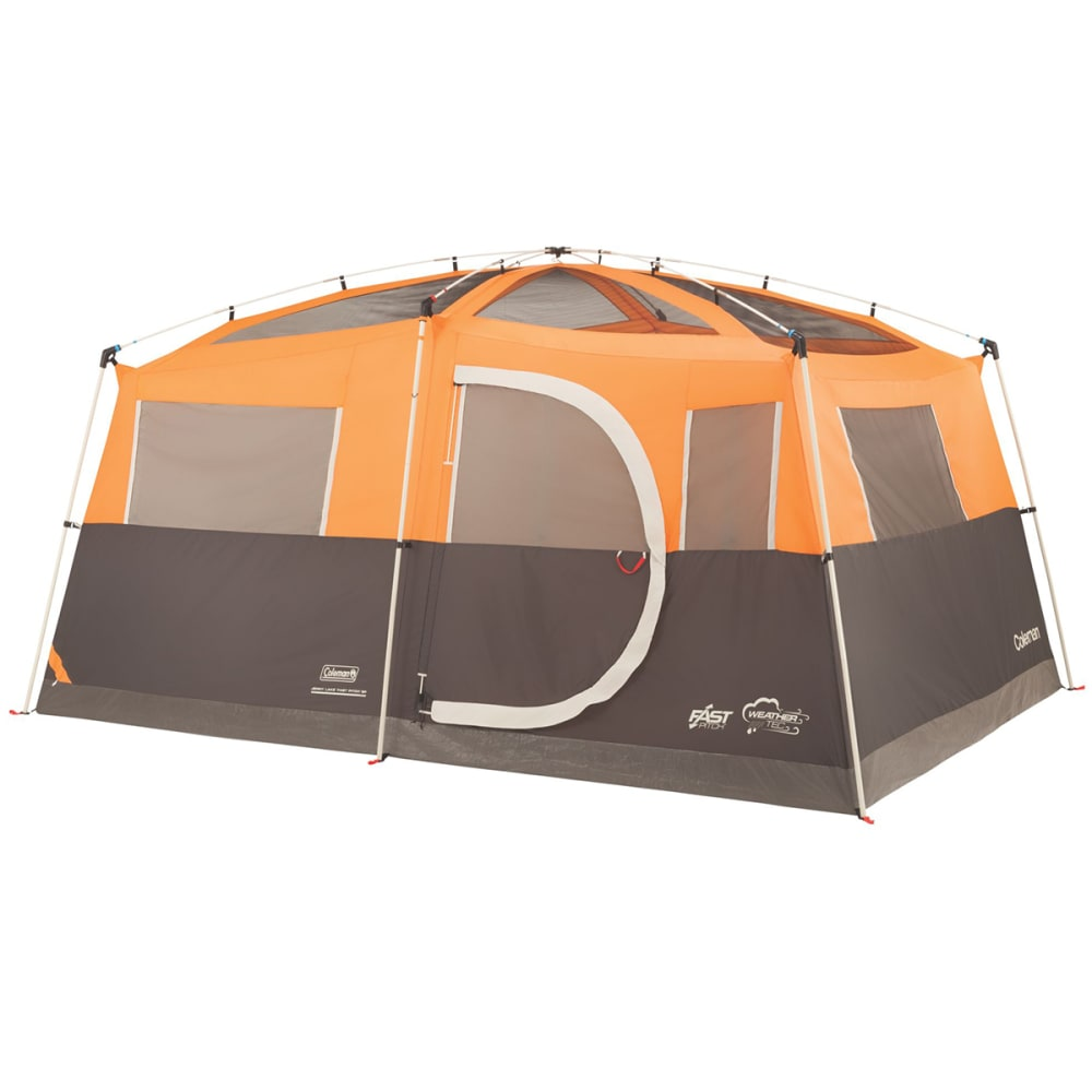 COLEMAN Jenny Lake Fast Pitch 8-Person Cabin With Closet - ORANGE/GREY