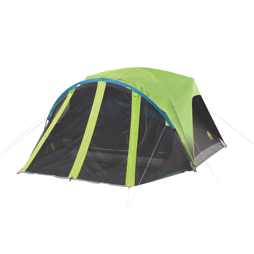 COLEMAN Carlsbad 4-Person Dark Room Tent with Screen Room - BLACK/GREEN