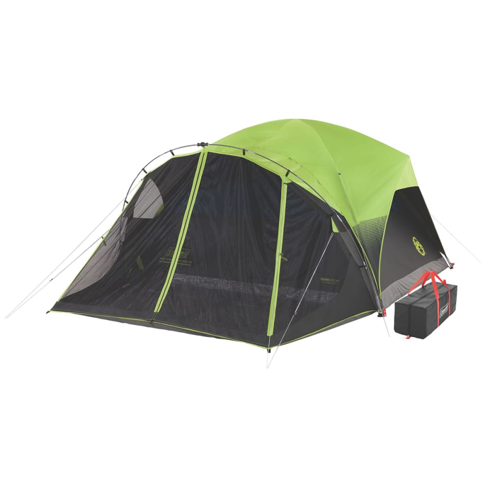 COLEMAN Carlsbad Fast Pitch 6-Person Dark Room Tent With Screen Room - BLACK/GREEN