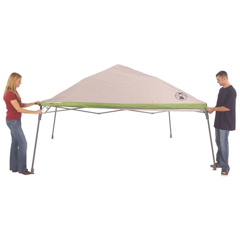 COLEMAN 12 x 12 ft. Instant Wide Base Shelter - WHITE/GREEN