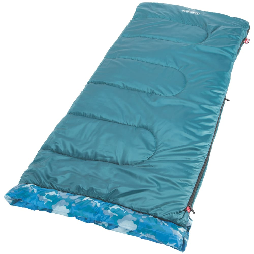 COLEMAN Boys' Camo 45 Youth Sleeping Bag - BLUE