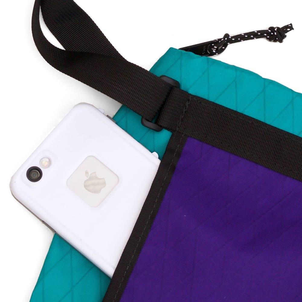 FLOWFOLD 2L Muse Crossbody Bag - AQUA/PURPLE