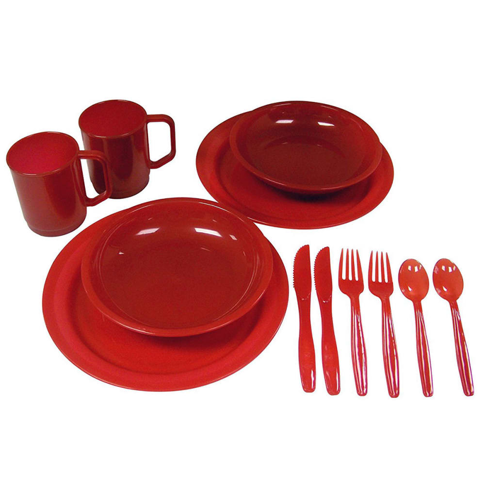 COLEMAN 2-Person Dinner Set - RED/BLACK