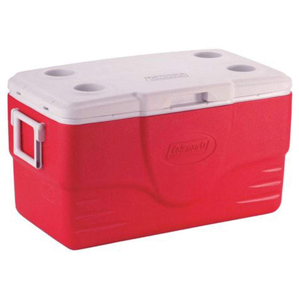 COLEMAN 50-Quart Performance Cooler - RED