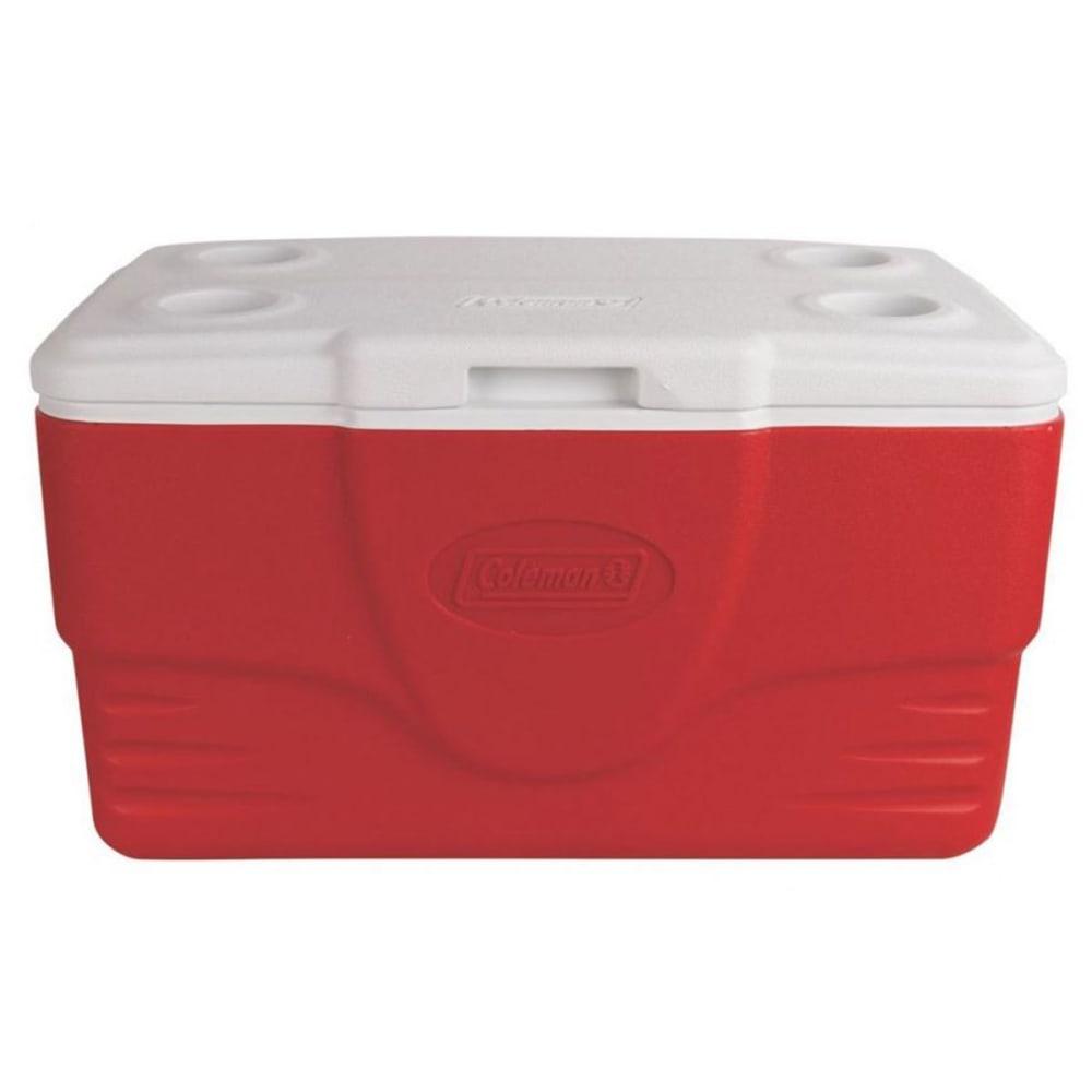 COLEMAN 50-Quart Performance Cooler - RED