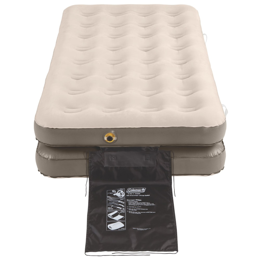 COLEMAN EasyStay 4-N-1 Single High Airbed, Twin/King - WHITE