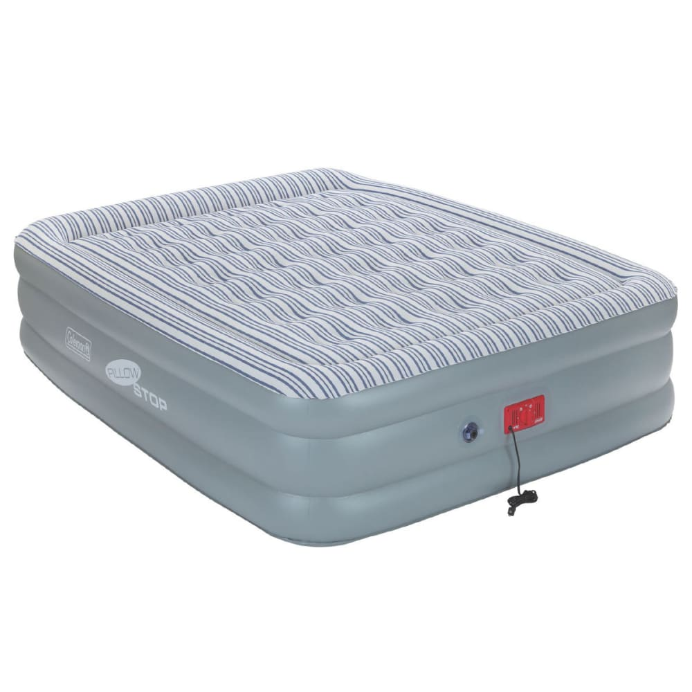 COLEMAN SupportRest Elite PillowStop Double High Airbed, Queen - GREY
