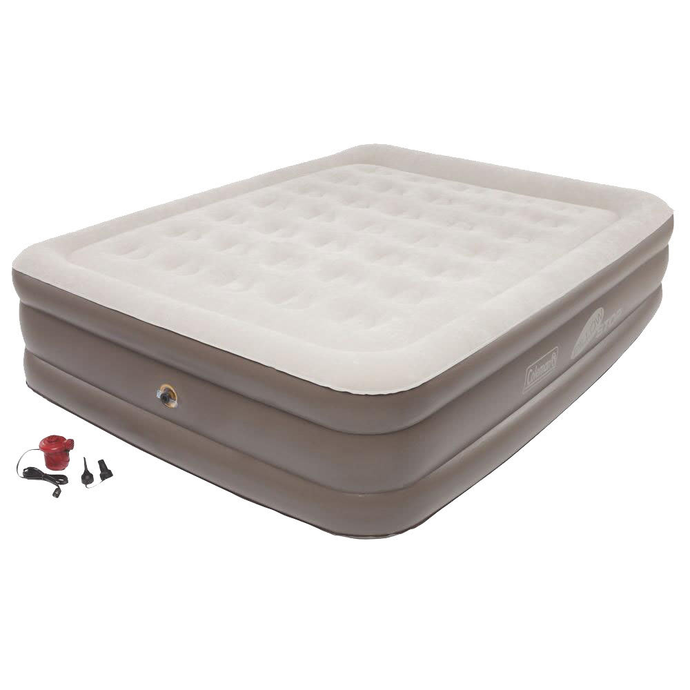 COLEMAN SupportRest Plus PillowStop Double High Airbed, Queen - BROWN
