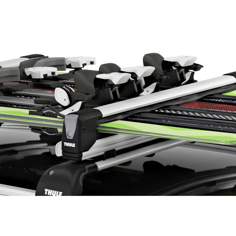 THULE SnowPack Extender Ski & Snowboard Rack, Black/Silver - BLACK/SILVER
