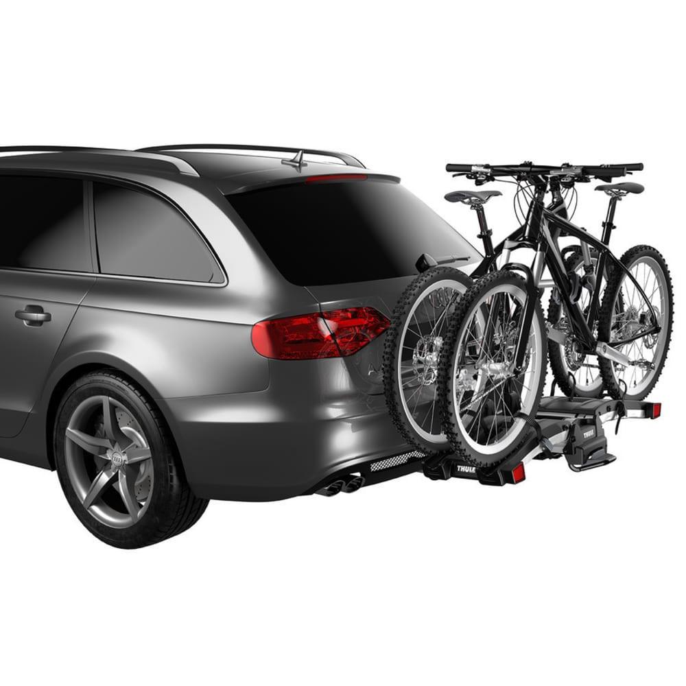 THULE EasyFold XT 2 Hitch Bike Rack, Black/Silver - BLACK/SILVER