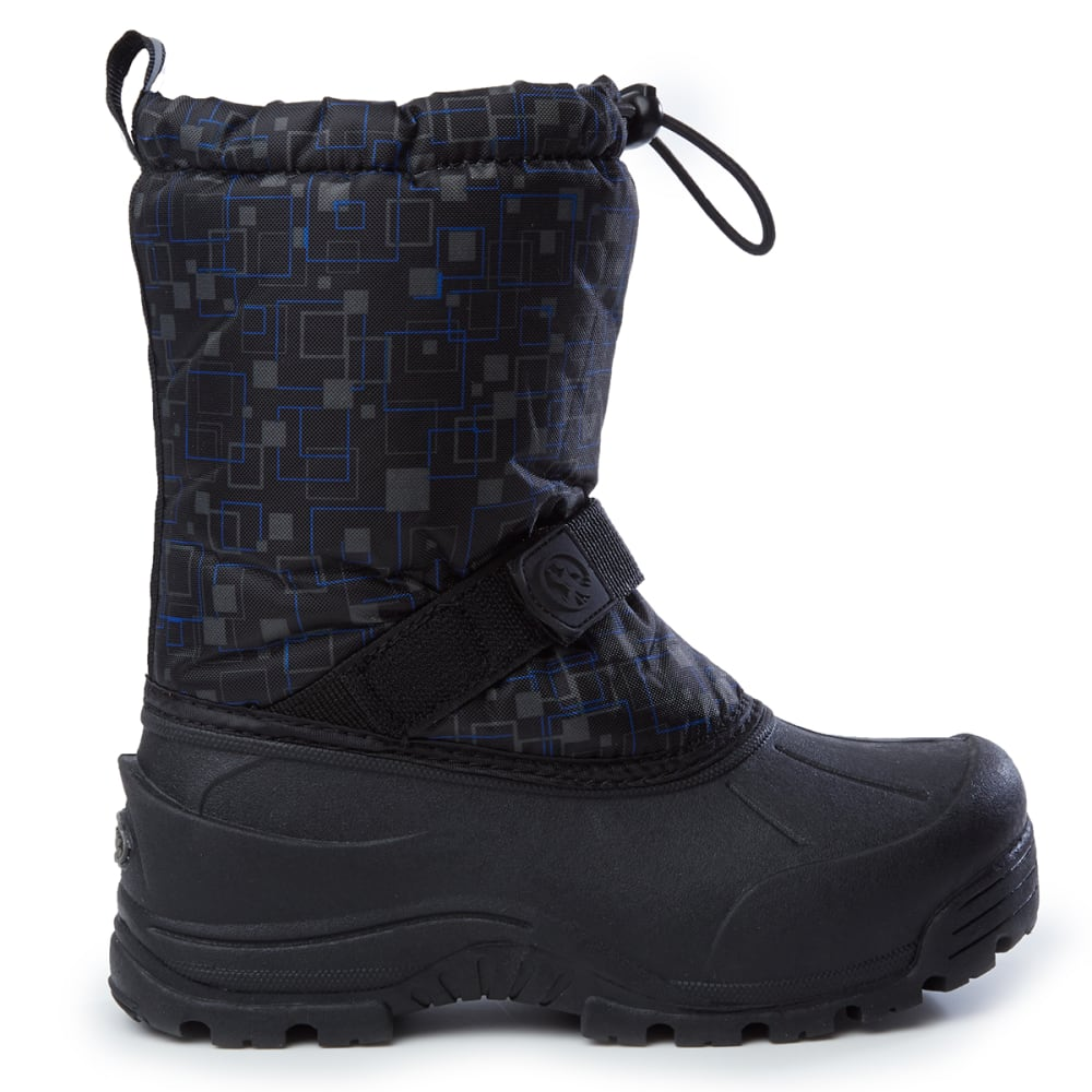 NORTHSIDE Boys' Frosty Waterproof Insulated Storm Boots - BLACK PRINT-008