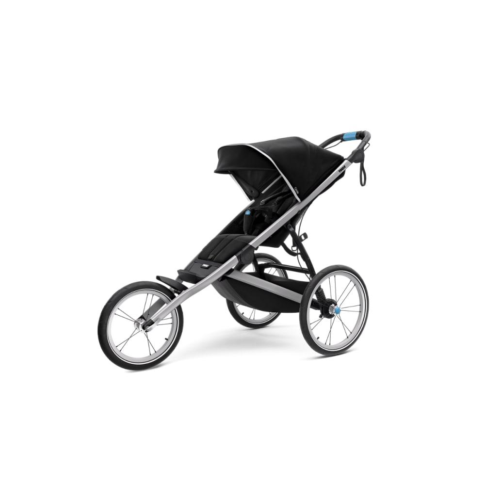 THULE Glide 2 Jogging Stroller, Black/Silver - BLACK/SILVER FRAME