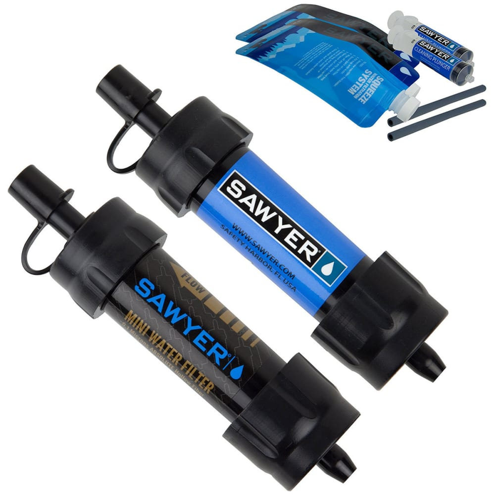 SAWYER Mini Water Filtration System, Twin Pack - BLUE/BLACK