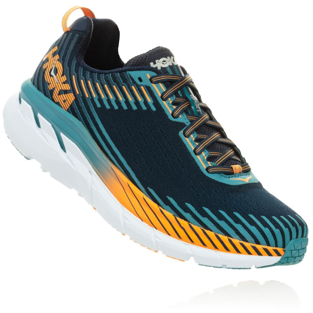 HOKA ONE ONE Men's Clifton 5 Running Shoes - BLACK-BISB