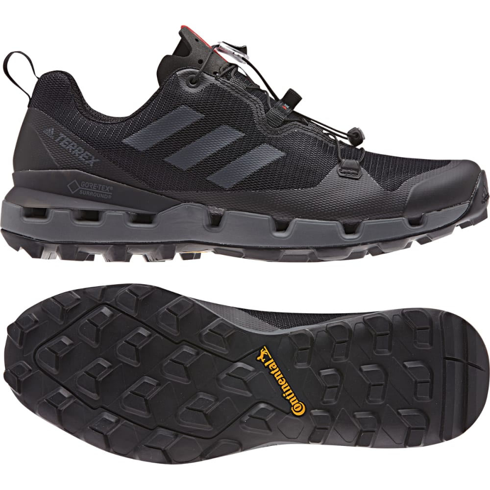 ADIDAS Men's Terrex Fast GTX-Surround Trail Running Shoes - BLACK/GREY FIVE/HI-