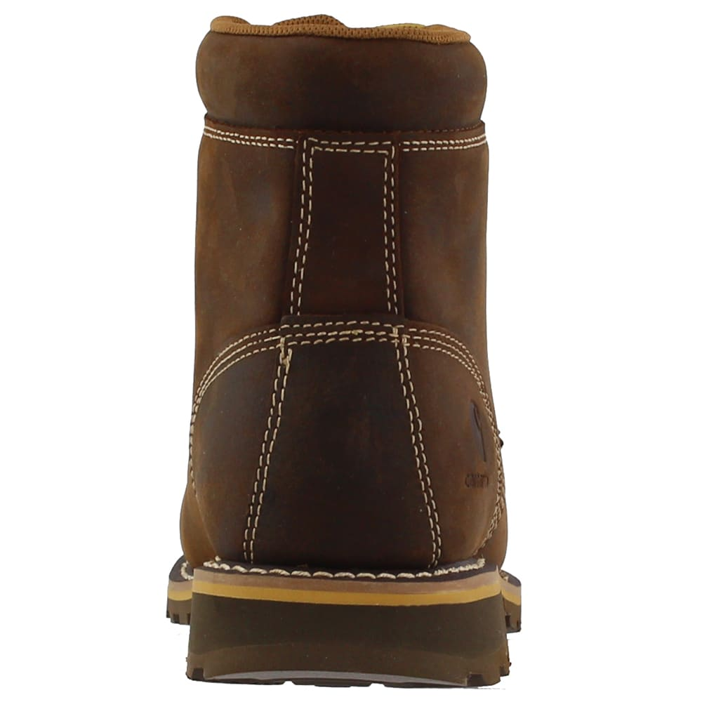 CARHARTT Men's 6 in. Non-Safety Toe Waterproof Work Boots - DK BISON OIL TANNED