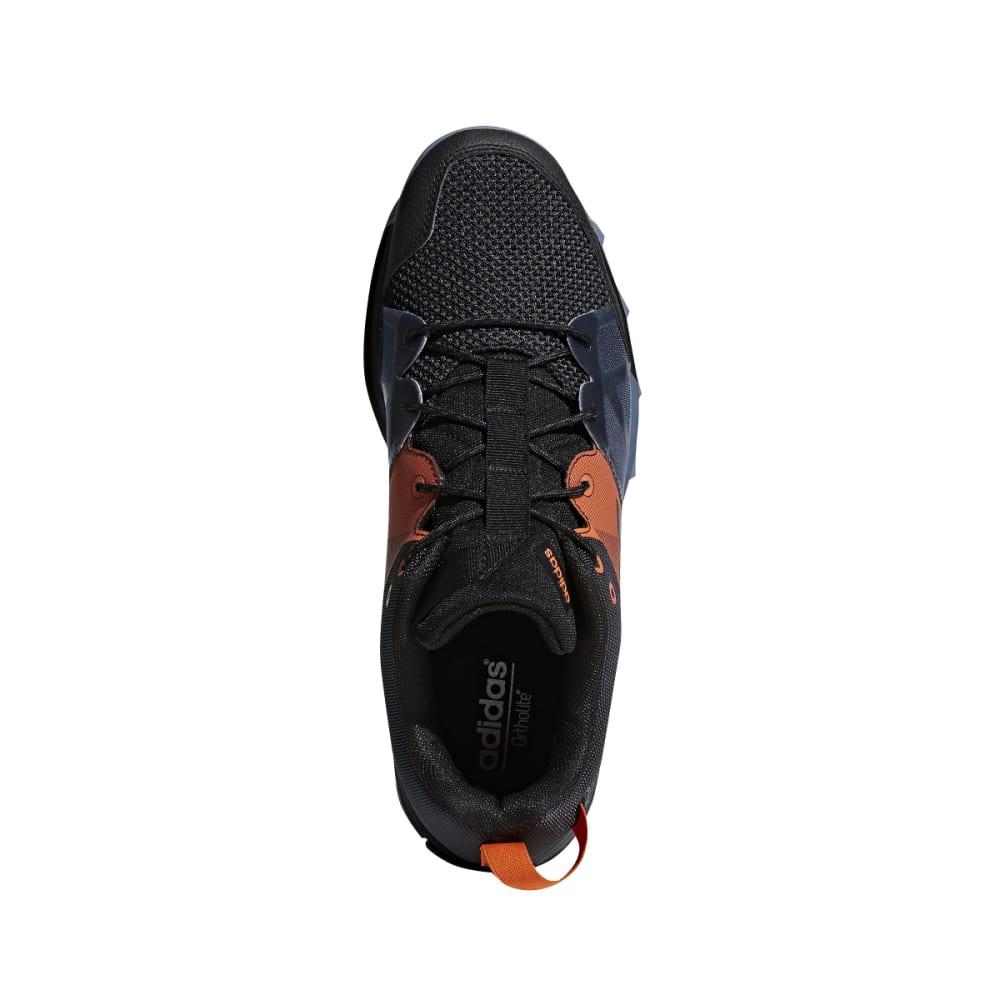 ADIDAS Men's Kanadia 8.1 Trail Running Shoes - CARBON/BLACK/ORANGE