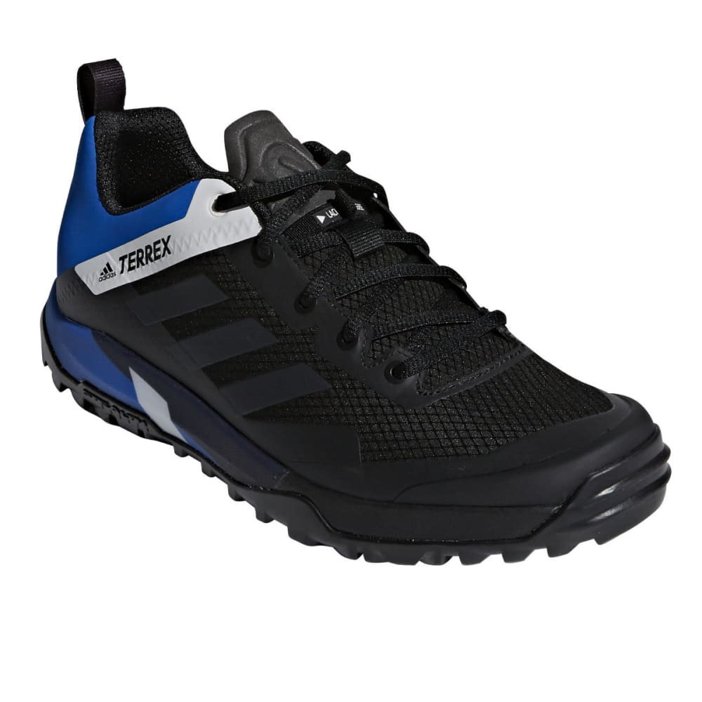 ADIDAS Men's Terrex Trail Cross SL Mountain Biking Shoes - BLACK/CARBON/BLUE B
