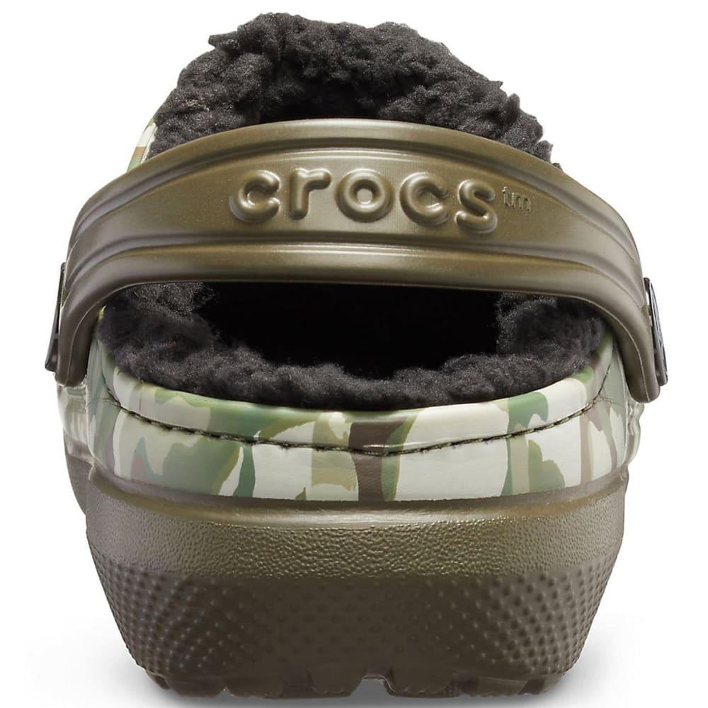 CROCS Boys' Classic Fuzz-Lined Graphic Clogs - CAMO/BLK-3R3