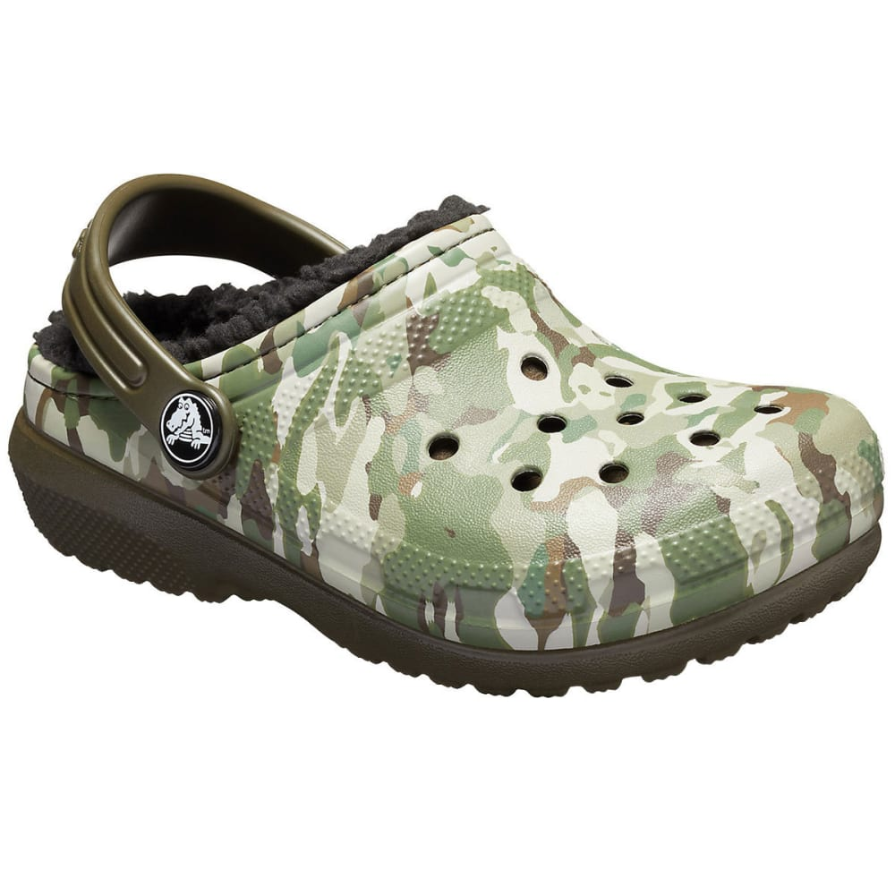 CROCS Boys' Classic Fuzz-Lined Graphic Clogs 9