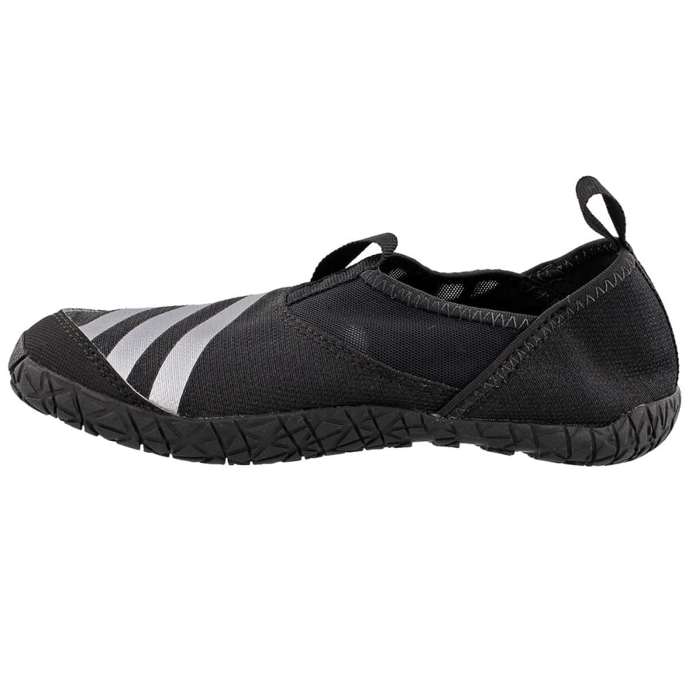 ADIDAS Kids' Jawpaw K Outdoor and Swim Slides - BLACK/SILVER/BLACK