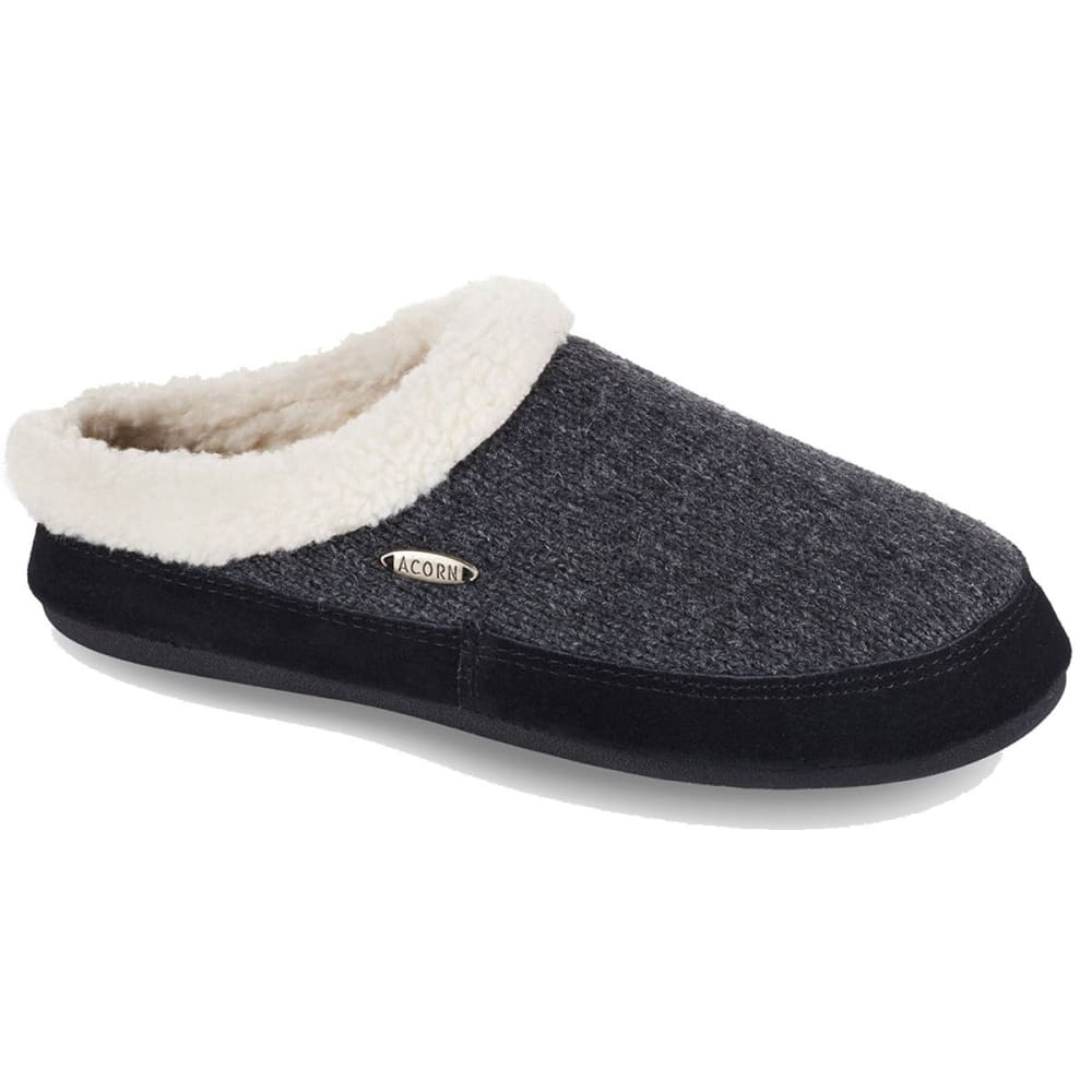ACORN Women's Mule Ragg Slippers - CHARCOAL DCT