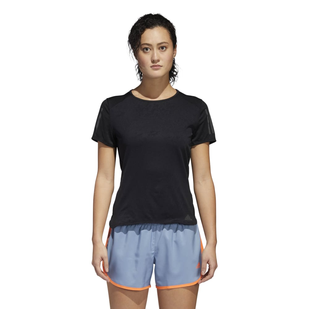 ADIDAS Women's Response Short-Sleeve Tee Shirt - BLACK