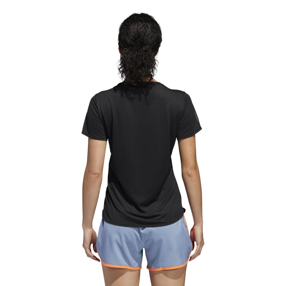 ADIDAS Women's Response Short-Sleeve Tee Shirt - BLACK