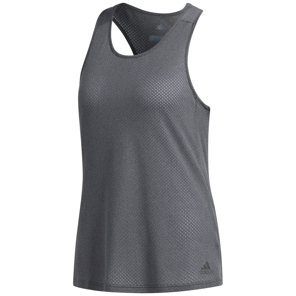 ADIDAS Women's Response Light Speed Tank Top - DARK GREY HEATHER