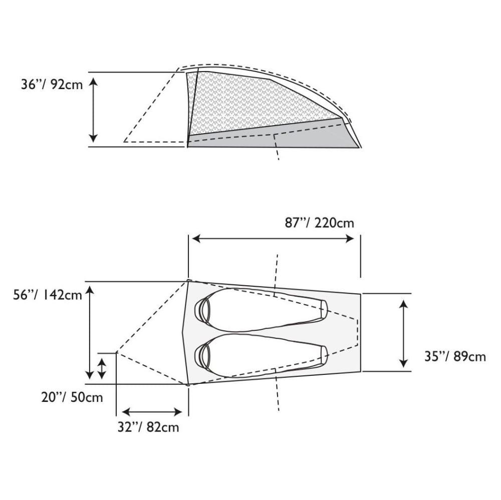 MOUNTAIN HARDWEAR Ghost UL 2 Tent - GREY ICE