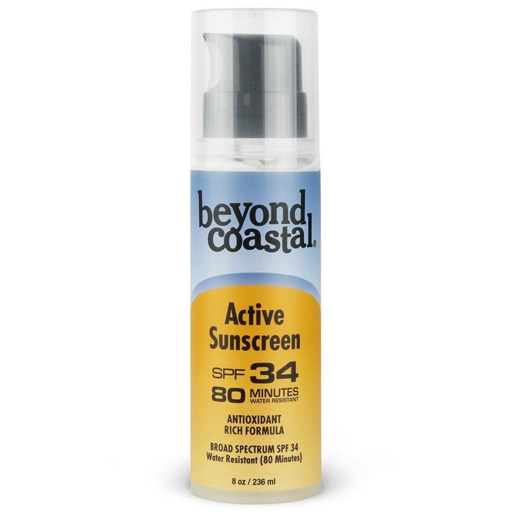 BEYOND COASTAL 8 oz. SPF 34 Active Pump Sunscreen - NO COLOR