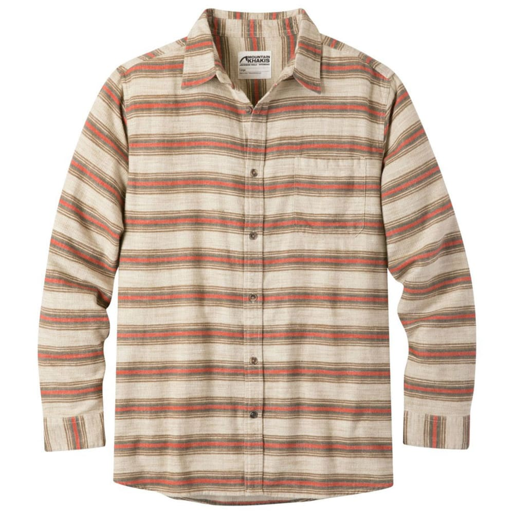 MOUNTAIN KHAKIS Men's Lundy Long-Sleeve Flannel Shirt - CREAM-383