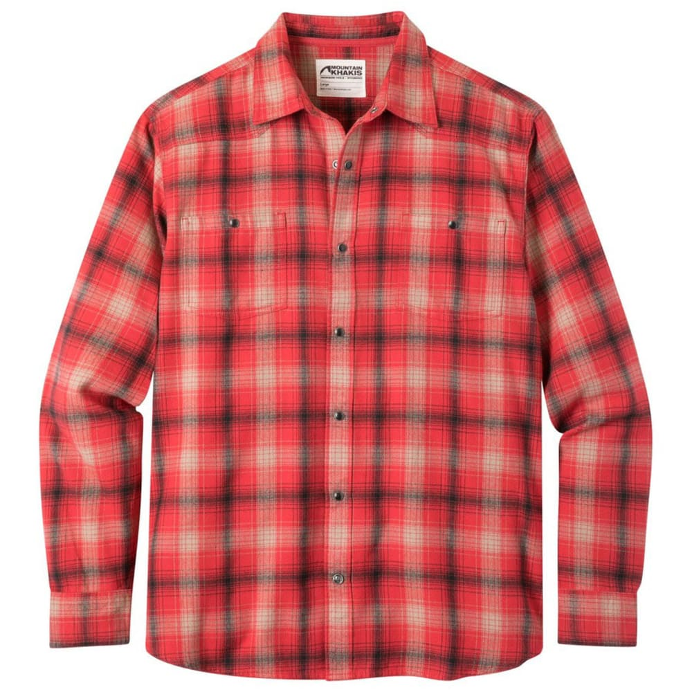 MOUNTAIN KHAKIS Men's Saloon Long-Sleeve Flannel Shirt - ENGINE RED PLAID-127