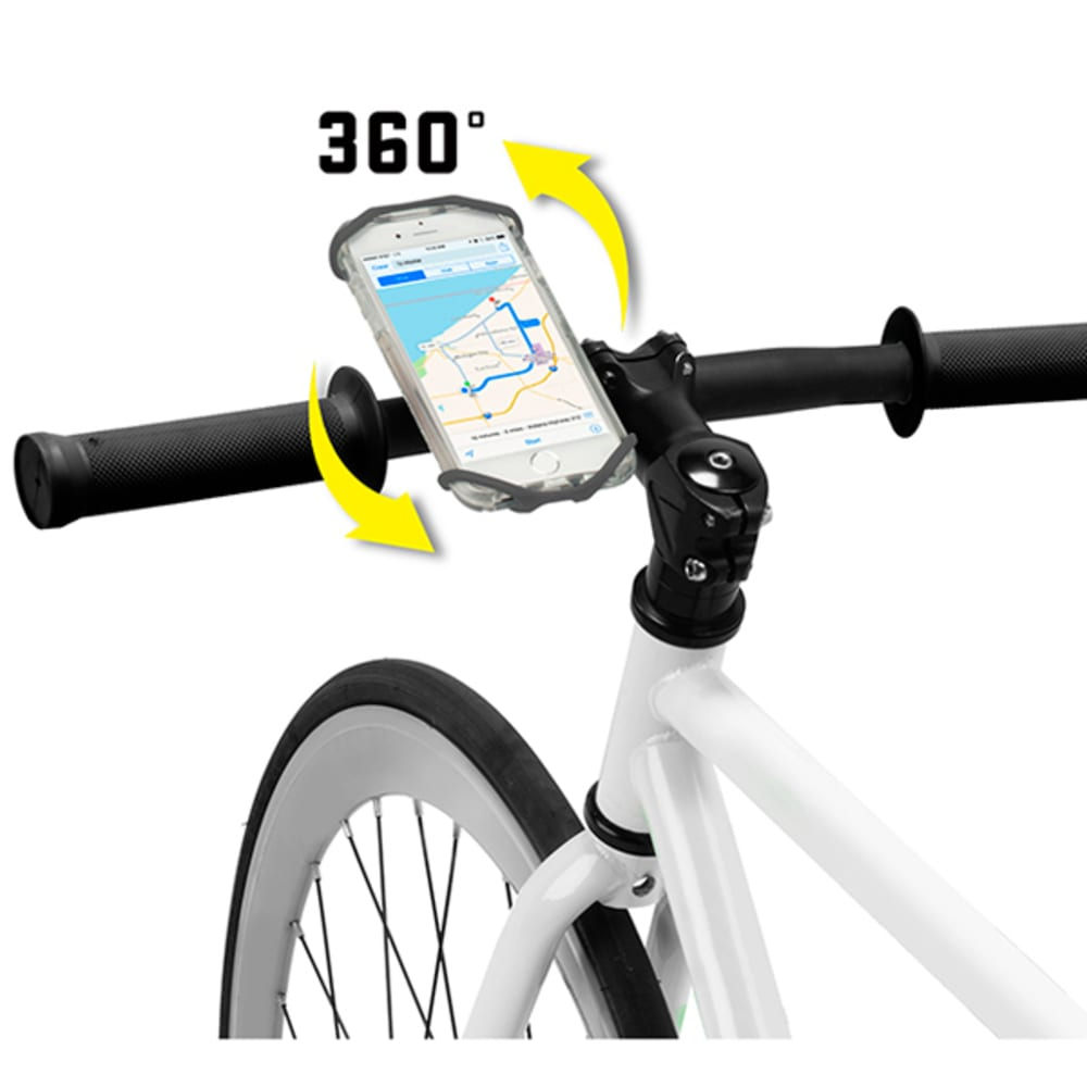 NITE IZE Wraptor Rotating Cell Phone Bar Mount - BLACK