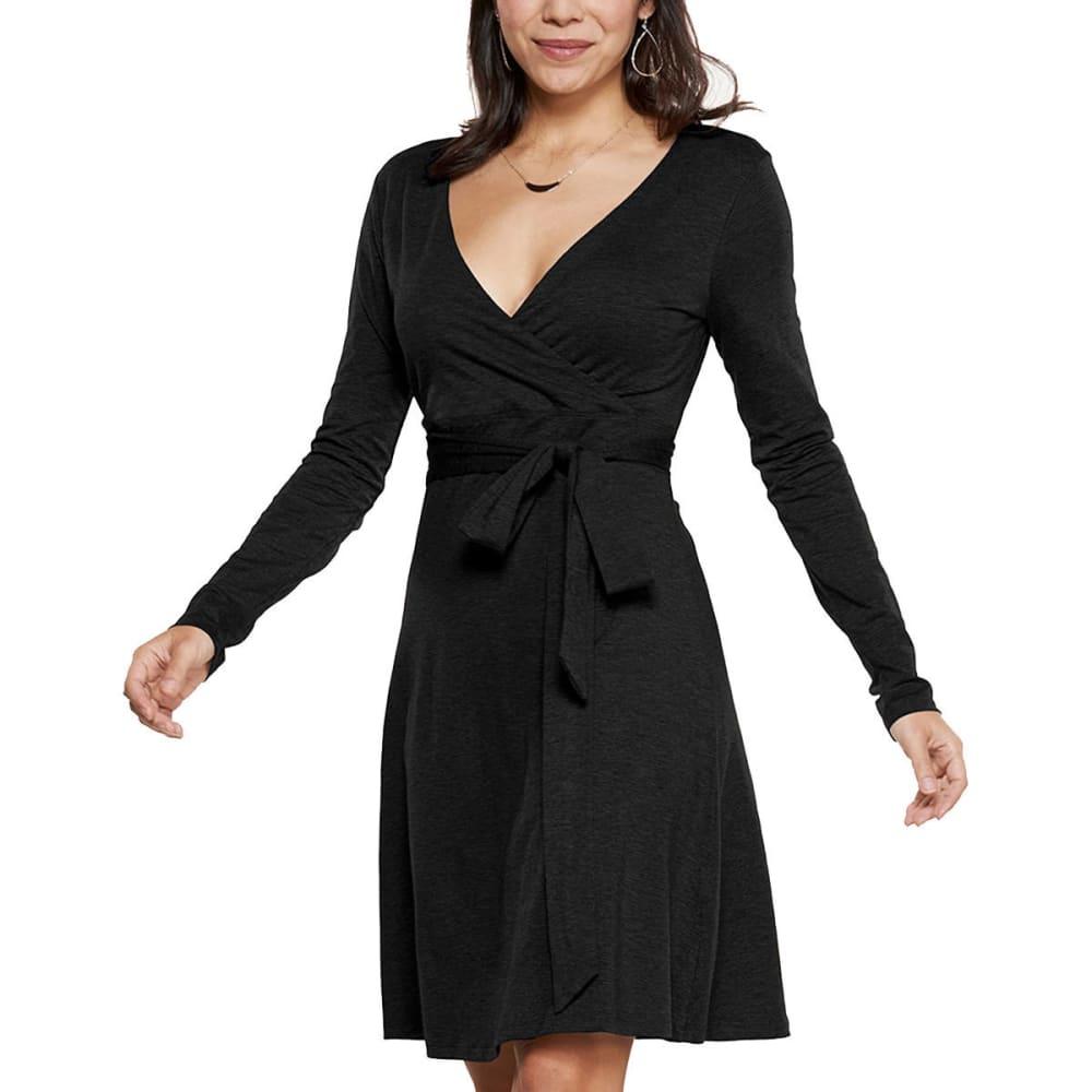 TOAD & CO. Women's Cue Wrap Long-Sleeve Dress - BLACK-100