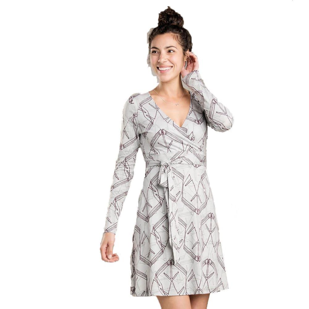 TOAD & CO. Women's Cue Wrap Long-Sleeve Dress - CHROME-097