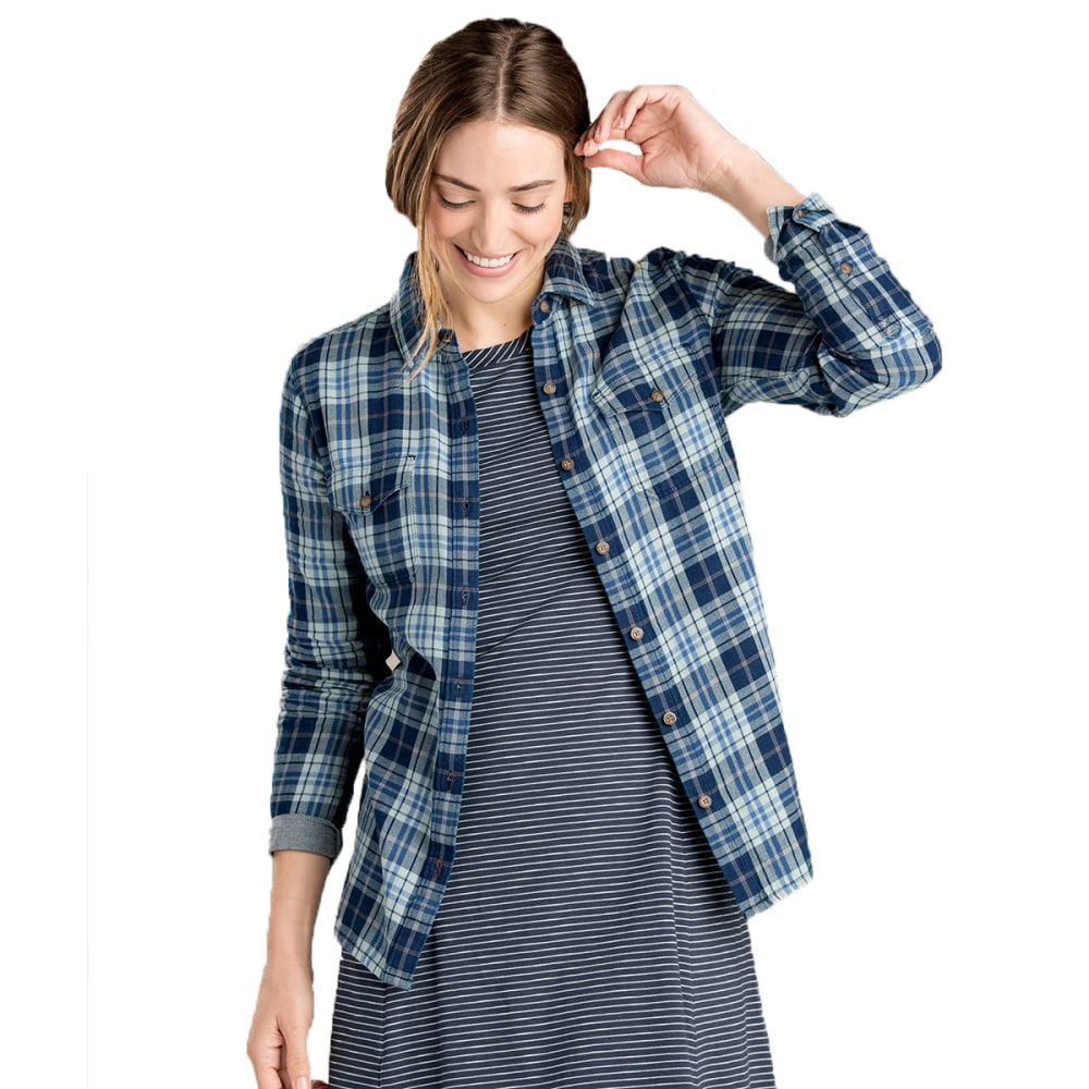 TOAD & CO. Women's Indigo Skye Long-Sleeve Shirt - DARK INDIGO-437